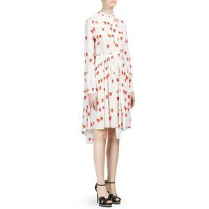 NEW Alexander McQueen Silk Petal Print Shirt Dress